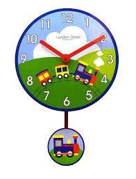 London Bedroom Accessories Nursery Hot Air Ballon Design Childrens Bedroom Wall Clock With