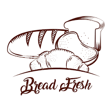 Bread Fresh Bakery Products Food Sketch Image Vector Illustration