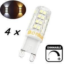 4 packs 4w g9 led light bulb dimmable crystal corn bulb 40w halogen equivalent g9 led bulb for chandelier