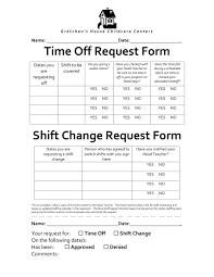 8 Shift Change Request Forms Pdf Doc