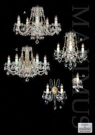 crystal lights with metal hooks a line