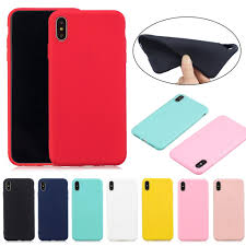 <b>Candy Color</b> Case Cute <b>Solid Color</b> Ultra Thin Soft <b>TPU</b> Back Cover ...
