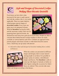 Style and designs of decorated cookies making these biscuits desirable by Melvin  Carlson - issuu