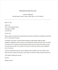 Administrative Cover Letter Example Free 7 Sample Administrative Assistant Cover Letter