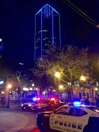 Downtown Dallas Purple Lights