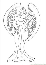 Small Picture Coloring Pages Angel Coloring Sheets Peoples Angel free