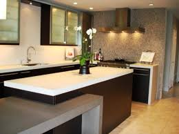 Kitchens:Awesome Kitchen Design With Dark Kitchen Counter Also Frosted Kitchen  Cabinet Small Kitchen With