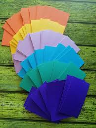 Discounted 100 Diy Colorful Rainbow Colors Business Card Blanks For