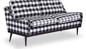 chair slipcovers armless loveseat cushion cover gingham black red and broyhill blue checd country loveseats white