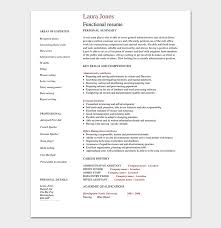 Functional Resume Pdf Functional Resume Template 14 Free Samples Examples