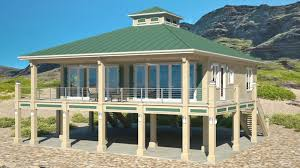 clearview 1600p 1600 sq ft on piers beach house plans by beach cat homes