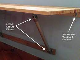 butcher block wall mounted table i