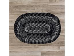 colonial mills wn13r072x072 6 x 6 ft walden round braided rug black charcoal