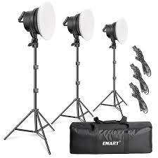 Emart Photography Softbox Lighting Kit 45w Dimmable Led With