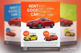 Car Flyers Car Rental Flyer Template Flyer Templates Creative Market 1