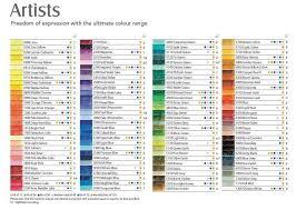 Derwent Coloursoft Pencils Color Chart Google Search In