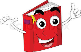 cute red book cartoon vector