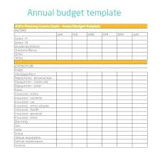 Yearly Expense Report Template Excel Expenses Spreadsheet Yearly Budget Template Excel Monthly