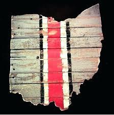 wooden state wall art buckeyes barn wood ohio