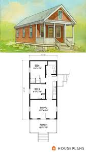 small katrina cottage house plan 500sft 2br 1 bath by