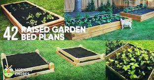 raised bed garden boxes how to build a plans box wood planter ideas garages