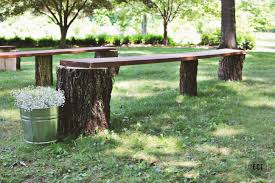 Tree Stump Seats Diy Wedding Seating Rustic Log Benches Ec2blog