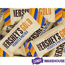 hershey s gold with peanuts and pretzels snack size candy bars 45 piece bag