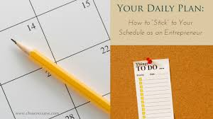 plan daily schedule