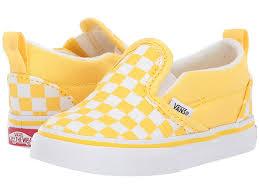 Vans Toddler Shoe Size Chart Vans Kids Slip On V Toddler Girls Shoes Checkerboard