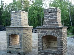 laying brick for outdoor fireplace build your own designs