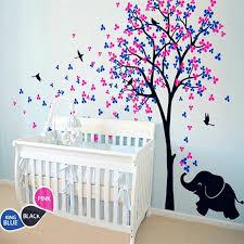 baby elephant wall decals huge tree wall decal flower birds with elephant vinyl sticker baby nursery