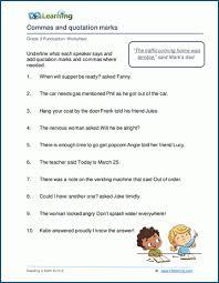 Grade 3 Punctuation Worksheets K5 Learning