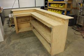 diy bar using simpson strong tie products basement interesting ideas
