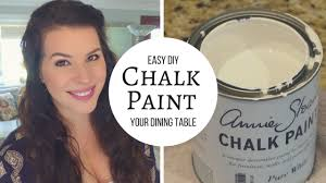 Diy Chalk Paint And Distress A Table Tutorial Youtube