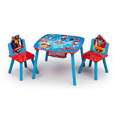 Plastic Table Chair Set Paw Patrol Table Chair Set With Storage Toysrus