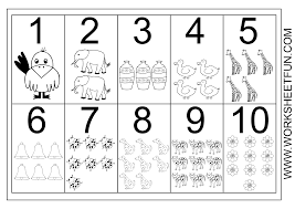 Preschool Number Chart 1 10 Picture Number Chart 1 10 Numbers Preschool Free