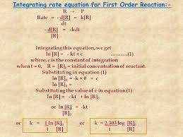 10 integrating rate equation for first