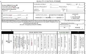 27 Images Of Manufacturing Quality Testing Template Somaek Com