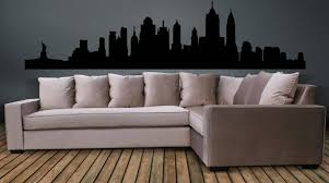 new york city skyline wall decal wall art sticker pertaining to most recent new york city