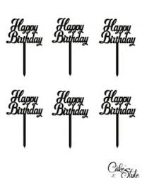 Birthday Cake Toppers Cake Style
