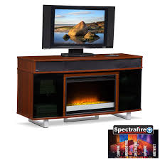 entertainment furniture pacer 56 contemporary fireplace tv stand with sound bar cherry