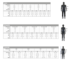 Scott Clothing Size Chart Bikes N Gear Ltd