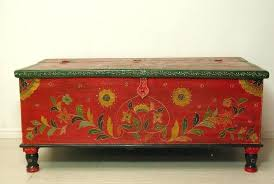 antique storage chest stunning painted trunks chests hand painted retro vintage wooden chest storage trunk in