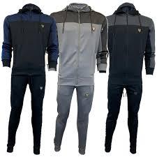 Designer Grey Tracksuit Details About Mens Tracksuit Sweatshirt Bottoms Hooded Top Sergio Joggers Fashion Designer New