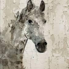 gray horse canvas print by irena orlov farmhouse prints and
