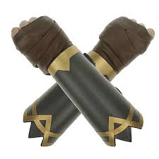 com coolcoco adjustable leather bracelet and brown hand wrap for lady girls kids cosplay prime 2 pieces set clothing