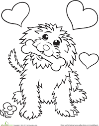 Small Picture Cute Dog Worksheet Educationcom