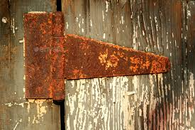 old rusty door hinge stock photo images