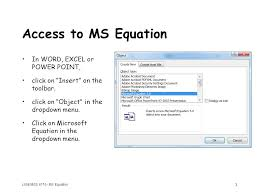 l00e mgs 8110 ms equation 3 access to ms equation in word excel or
