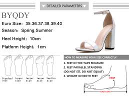 <b>BYQDY Fashion Office</b> Career Ankle Strap Sandals Square High ...
